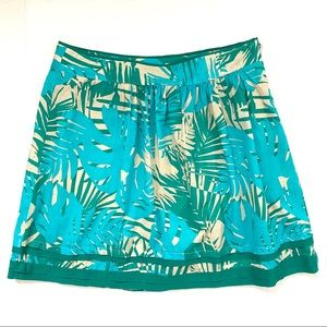 Loft Tropical A-Line Cotton Skirt Size 6